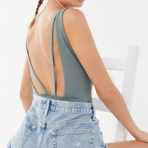 Urban outfitters plunging strappy bodysuit